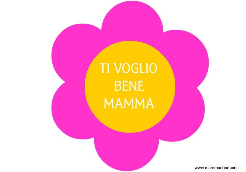 Sagoma fiore con scritta Ti Voglio Bene Mamma