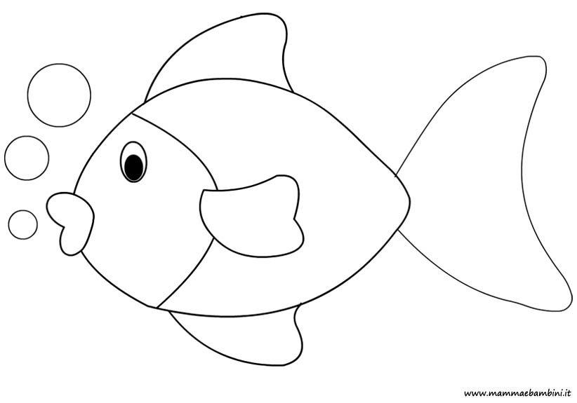 Disegno pesce da colorare mamma e bambini for Disegni di natale facili per bambini