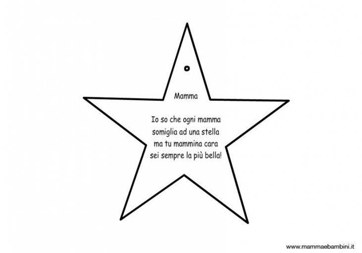 Poesia Mamma Facile Con Disegno Stella Mamma E Bambini