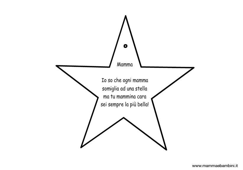 Poesia mamma facile con disegno stella