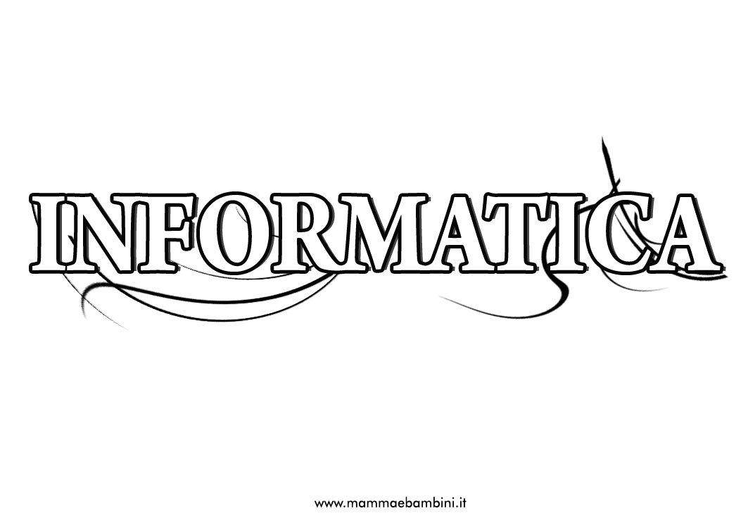 """Copertina quaderno """"Informatica"""" da stampare"""