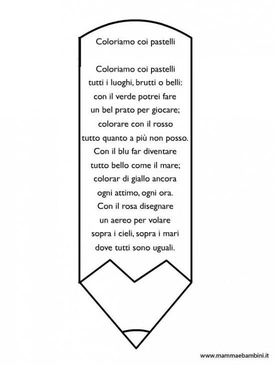 Poesia Sui Colori Con Disegno Matita Da Colorare Mamma E Bambini