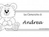 Targhetta camera con nome Andrea