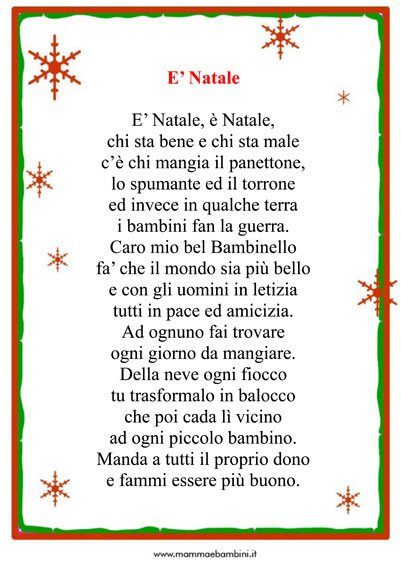 Poesia Natale: E' Natale