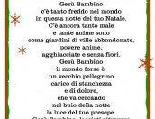 """Poesia """"Luce nel presepe"""" con cornice"""