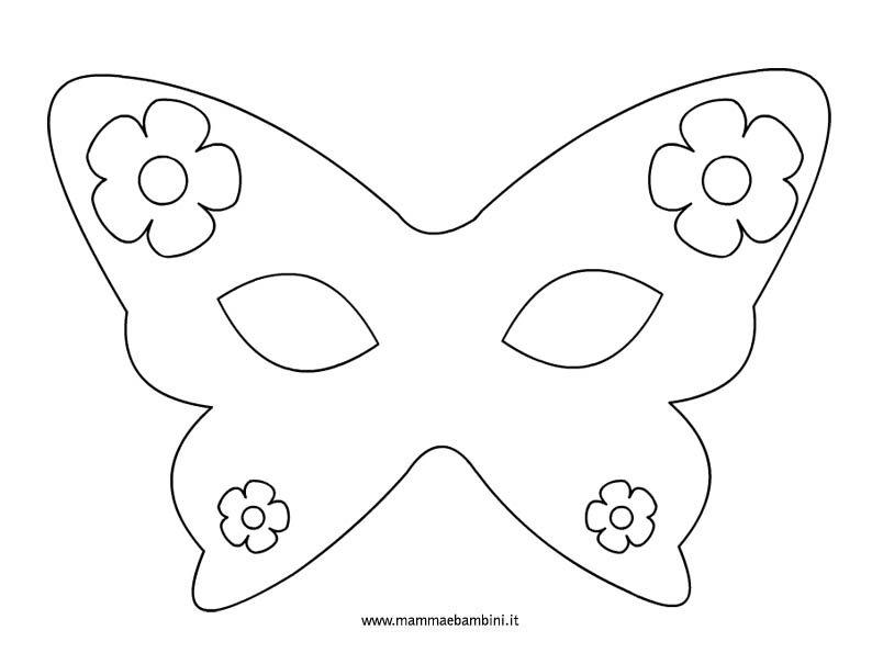 carnevale maschere da colorare mamma e bambini