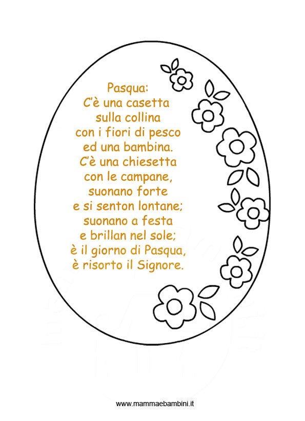 Poesie per pasqua da stampare mamma e bambini - Modelli di coniglietto pasquale gratis ...