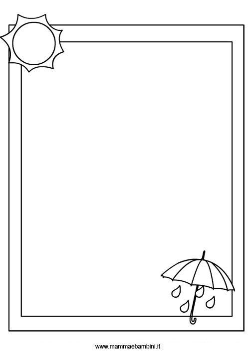 Disegni cornici da colorare mamma e bambini for Sole disegno da colorare