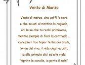 Poesia Vento di marzo con cornice