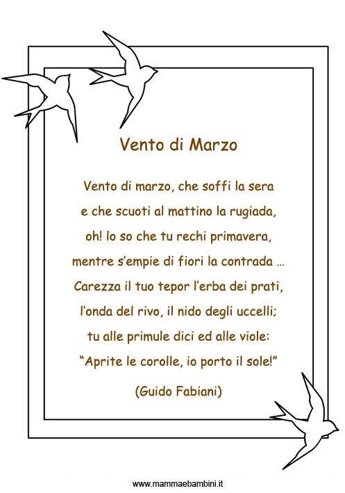 Poesie sul mese di Marzo – Mamma e Bambini e5aa7949d227