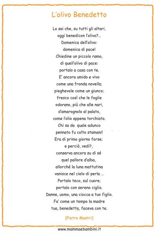 Poesia Sulla Domenica Delle Palme Mamma E Bambini