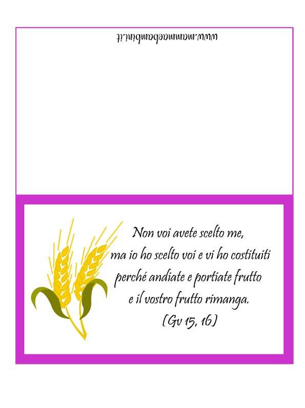Biglietto con frase religiosa mamma e bambini for Frasi di auguri per la cresima