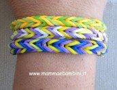 Video come realizzare braccialetti con gli elastici