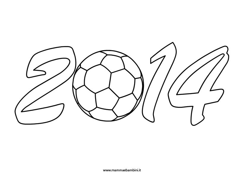 Disegno da colorare Mondiali Calcio