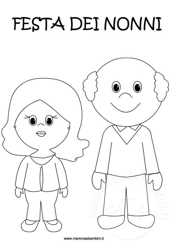 Disegni Da Colorare Per La Festa Dei Nonni Mamma E Bambini