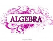 Copertina per la materia Algebra