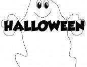 Fantasmino con scritta Halloween