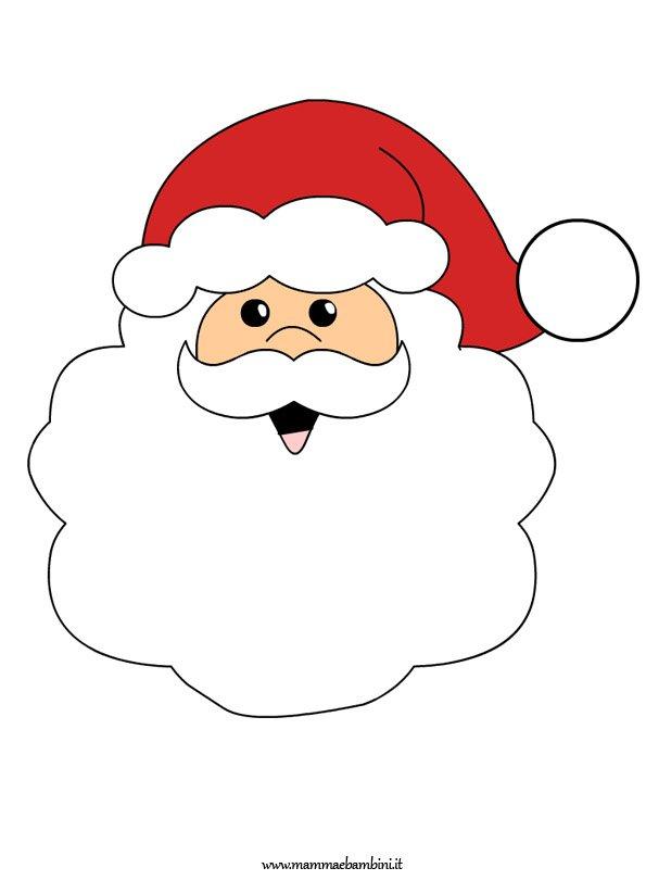 Disegno Babbo Natale Per Addobbare Mamma E Bambini
