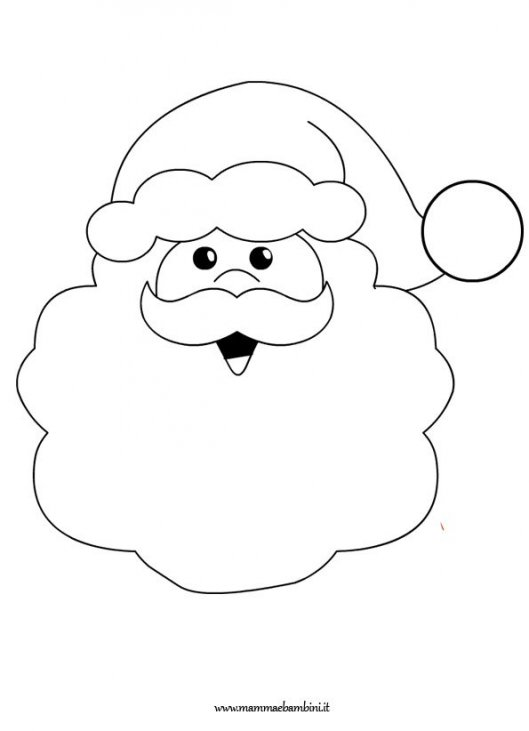 Babbo Natale Da Colorare E Stampare