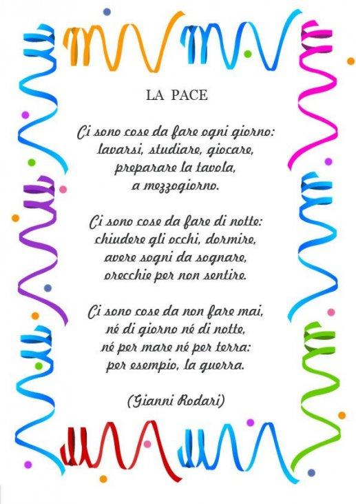 Frasi Di Natale Gianni Rodari.Poesia Sulla Pace Di G Rodari Mamma E Bambini