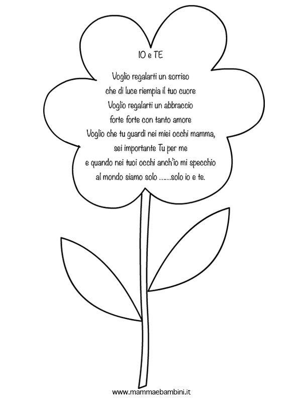Poesia per la mamma con fiore