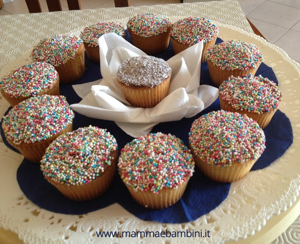 Cupcakes decorati con nutella e zuccherini