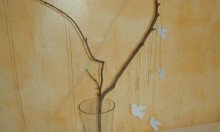 Centrotavola con ramo