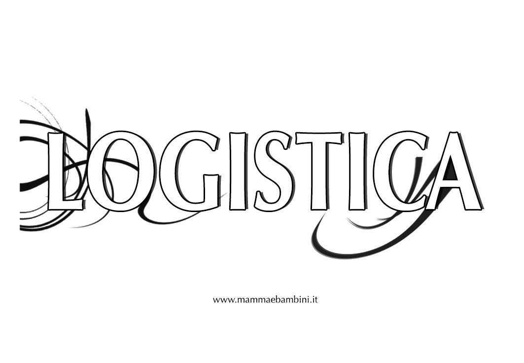 """Copertina per materia """"Logistica"""""""