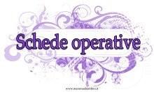 """Copertina """"Schede operative"""" da stampare"""