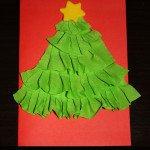 Biglietto natalizio con carta crespa