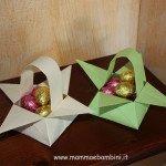 Come fare cestini di carta per Pasqua