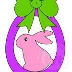 Decorazioni Pasqua con coniglio
