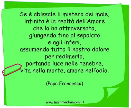 Frase Papa Francesco sull'Amore