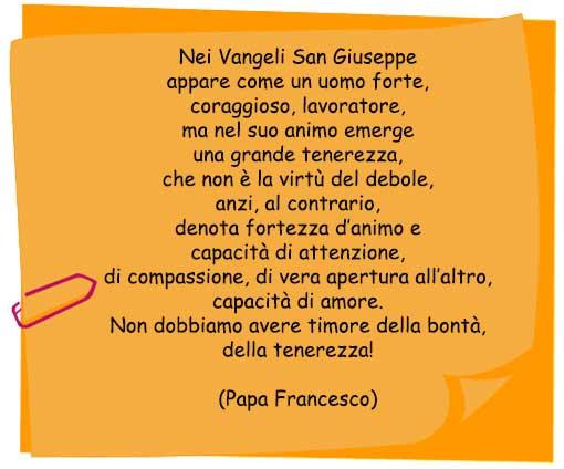 Frase Su San Giuseppe Di Papa Francesco Mamma E Bambini