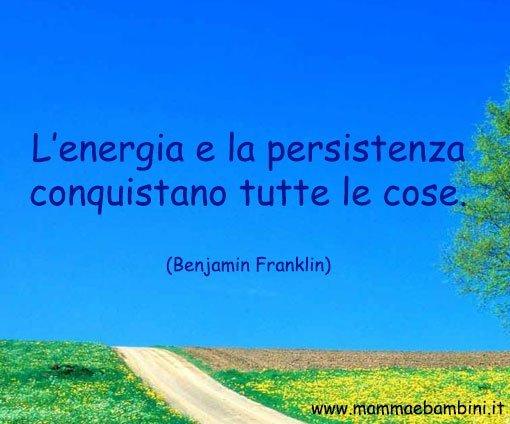 Frase su energia e persistenza
