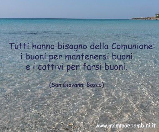 Frase Sull Eucarestia Di San Giovanni Bosco Mamma E Bambini