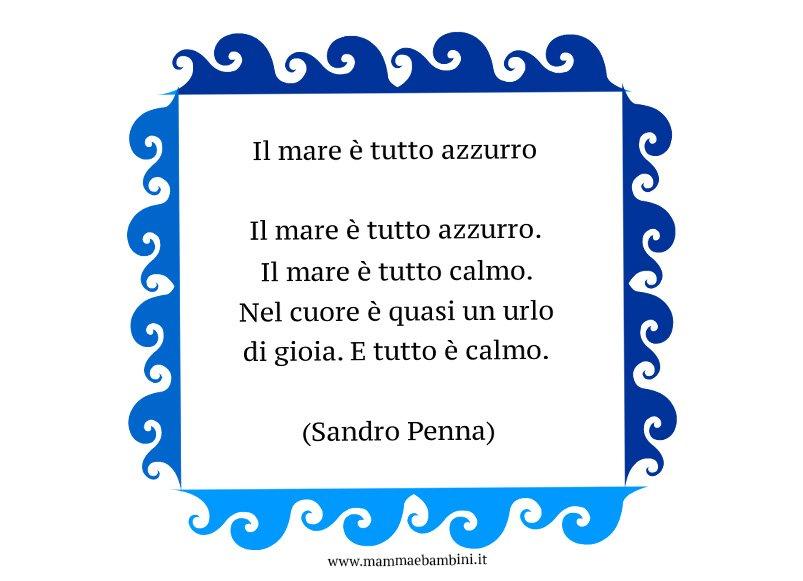 Poesia Il mare � tutto azzurro