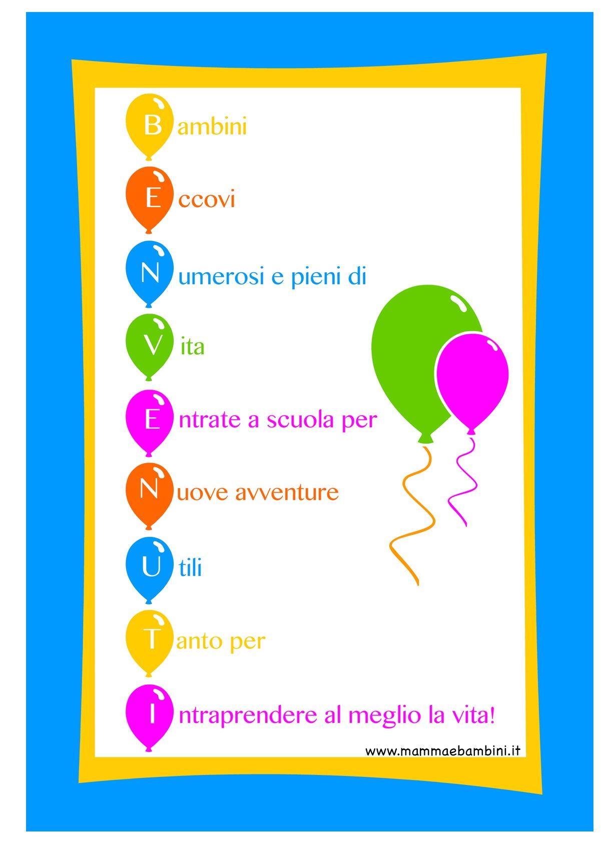 Scritta per accoglienza scuola mamma e bambini for Idee per l accoglienza nella scuola dell infanzia