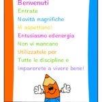 Cartellone accoglienza per primo giorno scuola