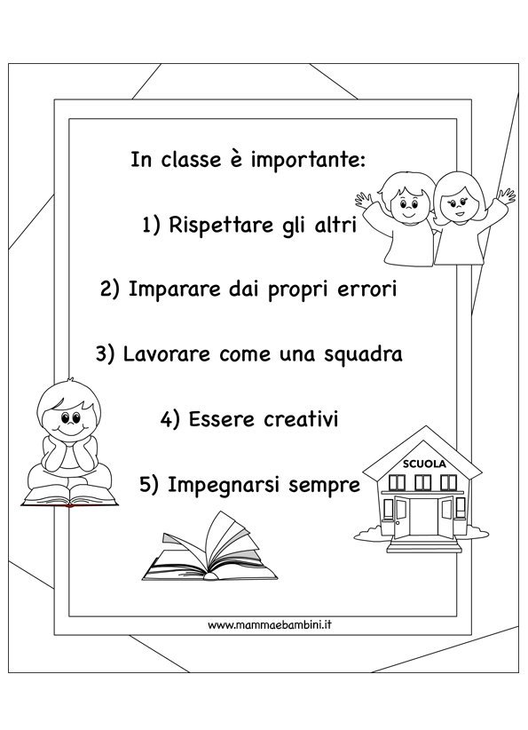 Le buone regole da seguire a scuola