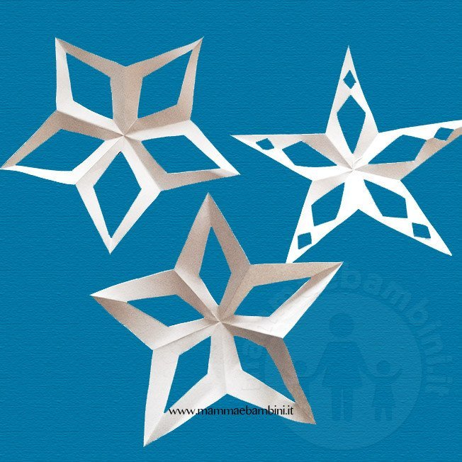 Stelle di carta 5 punte con varianti