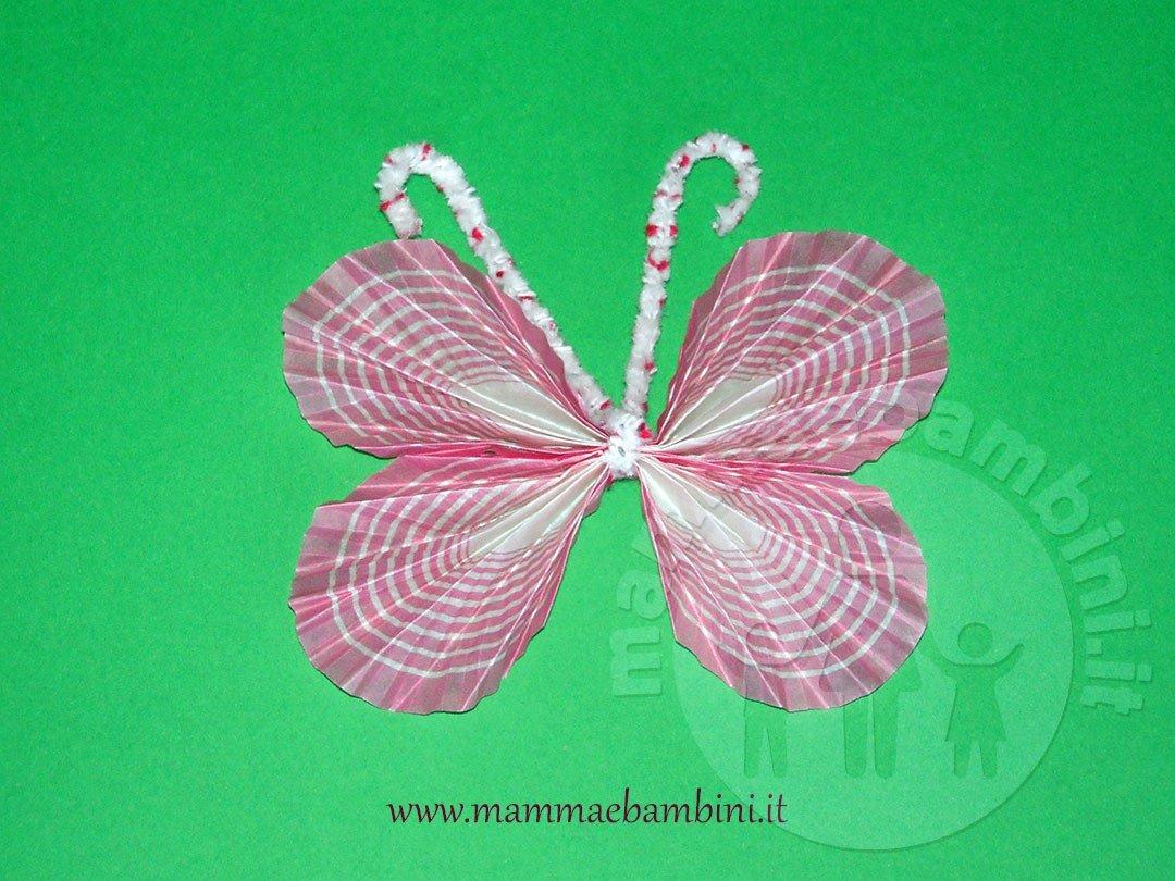 Farfalle facili con pirottini dei cupcakes