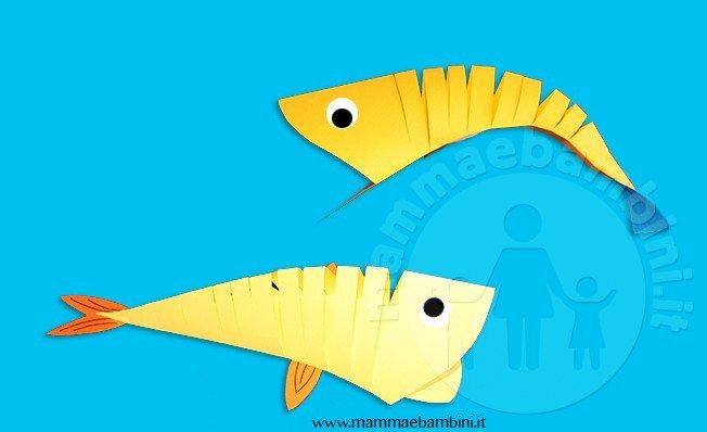 Lavoretto Realizzare Pesce Di Carta Mamma E Bambini
