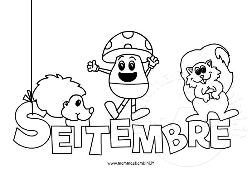 disegno da colorare sul mese settembre  u2013 mamma e bambini