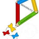 Disegno aquilone con scritta Benvenuto
