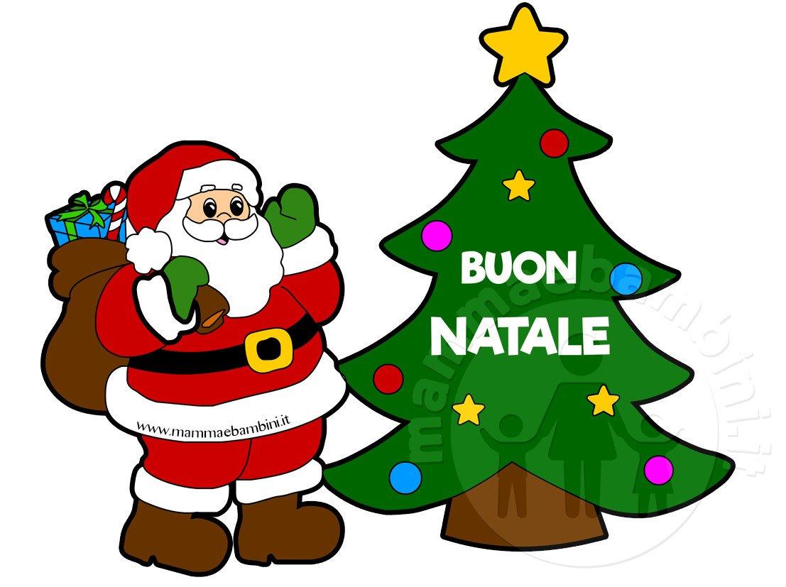 Disegno Babbo Natale con scritta