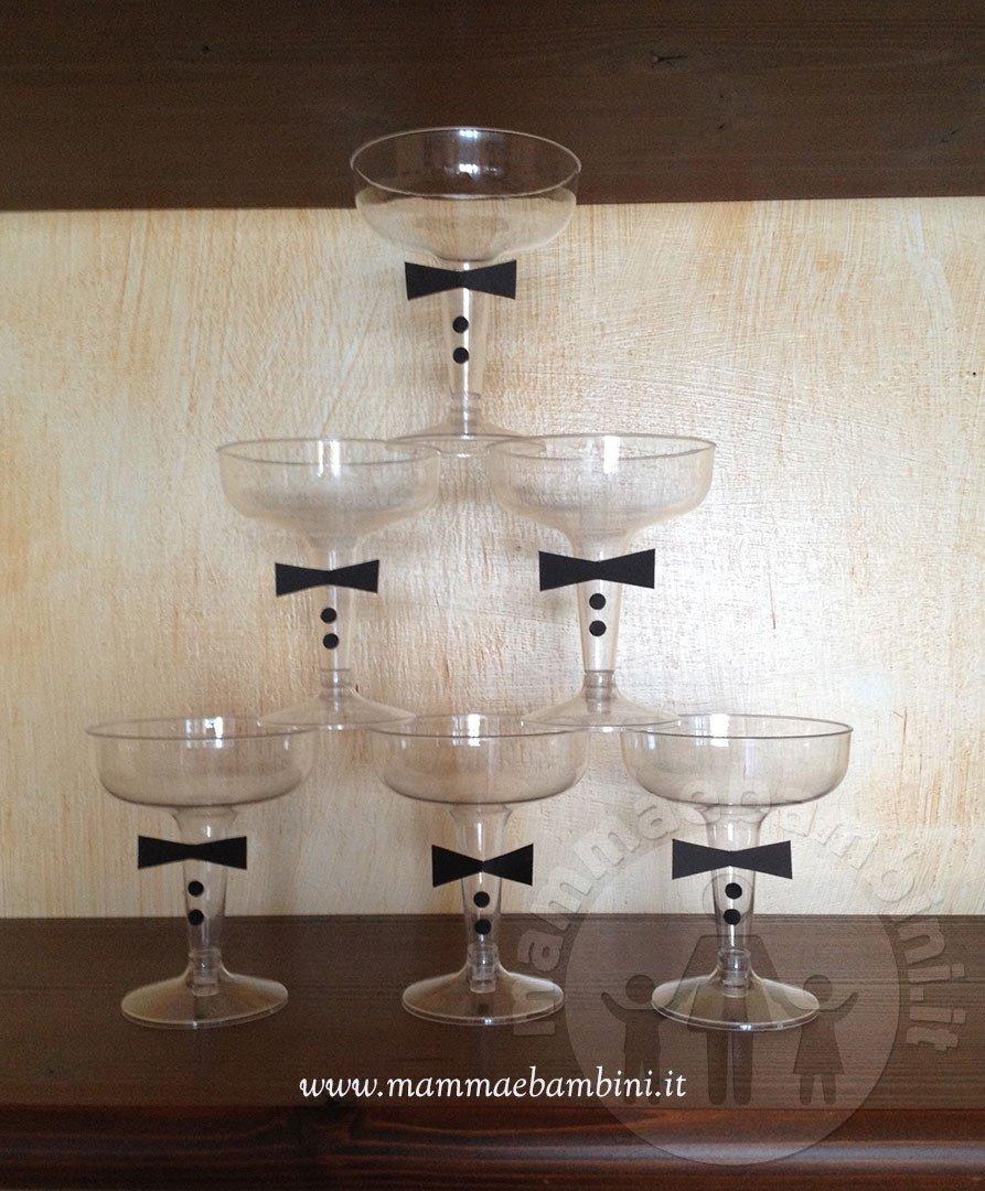Decorare bicchieri a calice per Capodanno