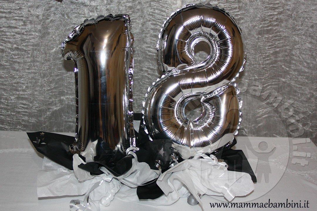 Compleanno 18 anni composizione con palloncini numero
