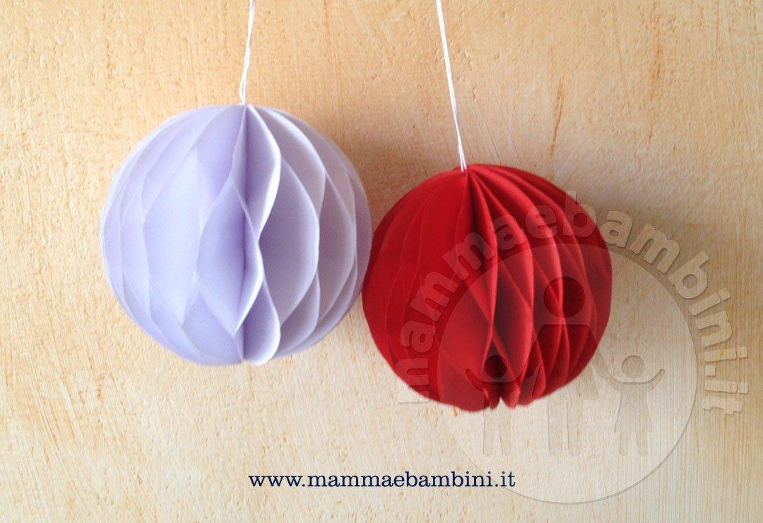Tutorial sfere natalize di carta