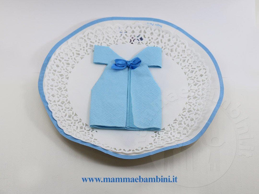 vestito beb� celeste per battesimo